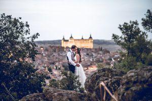 fotógrafo de bodas en toledo, fotos desde el parador de toledo